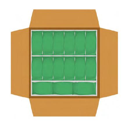 Relleno de la parte superior de la caja